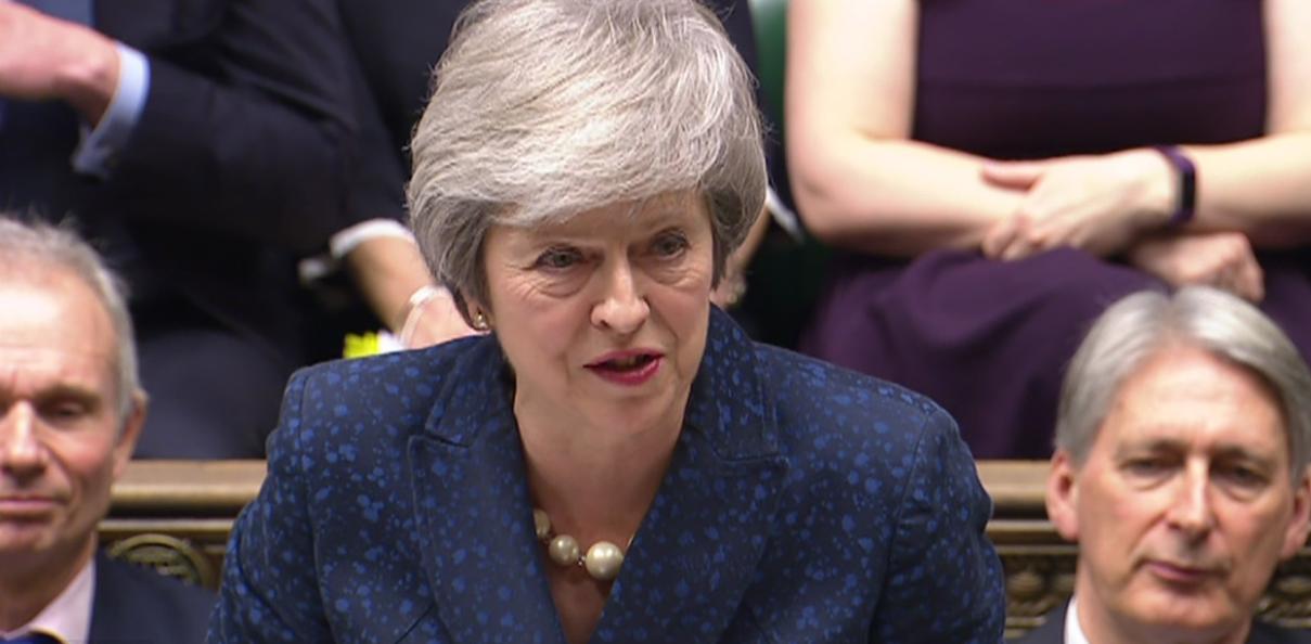 英国首相脱欧方案再遭议会否决 议会将在周三投票推迟脱欧